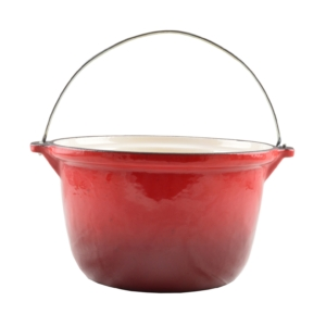 Perfect Home Öntöttvas bogrács Zománcozott  3 literes piros 13251