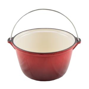Perfect Home Öntöttvas bogrács Zománcozott  4 literes piros 13252