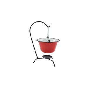 Perfect Home Zománcozott tálaló bogrács piros/fehér 0.8 liter 71112