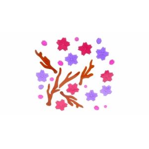 Perfect Home Ablakdísz fa + virágok 72223