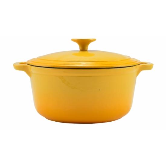 Perfect Home Zománcozott öntöttvas lábas 24 cm 4l sárga 12476