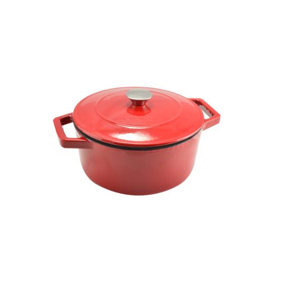 Perfect Home Zománcozott öntöttvas lábas 28 cm 7 literes piros 12969