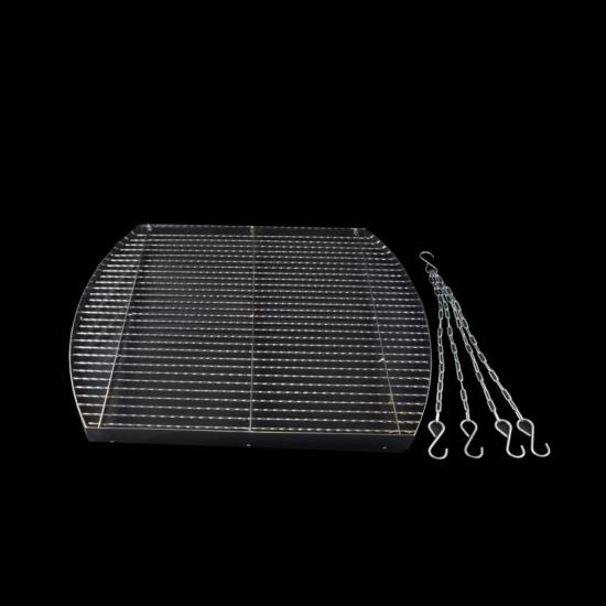 Grillrács + lánc négyzet 60cm 14550