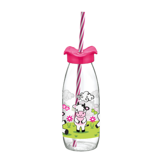 Perfect Home Limonádés üveg szívószállal 14663