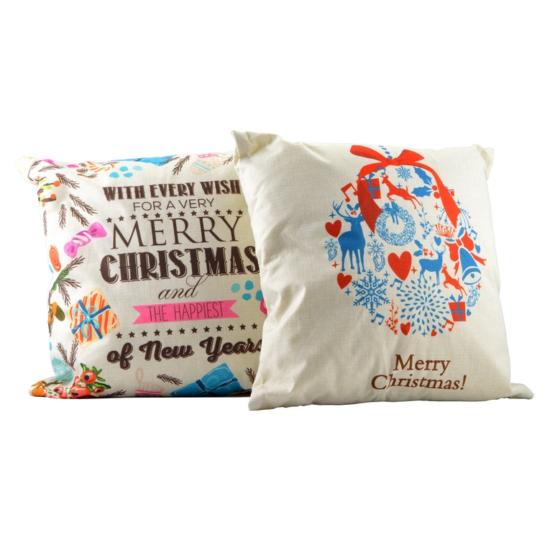 Perfect Home Díszpárna 40*40 cm ledes karácsonyi 14733