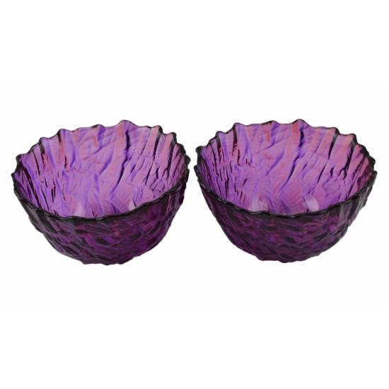 Walther Glass Crafts lila üvegtál szett 16216