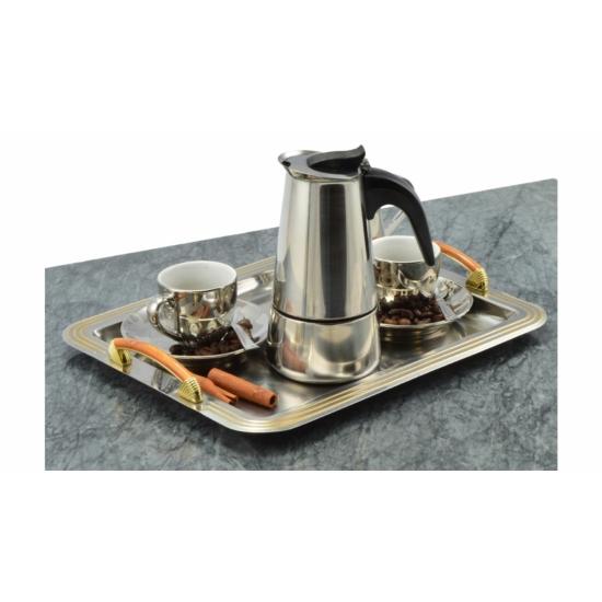 Perfect Home Rozsdamentes kávéfőző 4 személyes 28012
