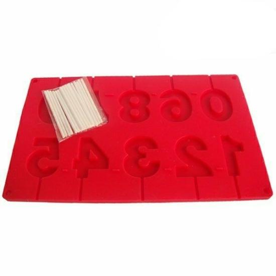 Perfect Home Szilikon csoki nyalóka forma szám 3D 28373