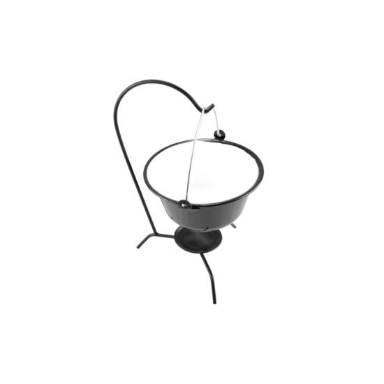 Perfect Home Zománcozott tálaló bogrács fekete/fehér 0.8 liter 71078
