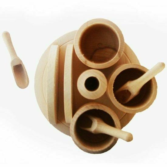 Fa fűszertartó  + szalvétatartó 72026