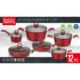 Kép 2/3 - Perfect Home Edényszett aluminium 12 részes piros 14789