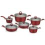 Kép 3/3 - Perfect Home Edényszett aluminium 12 részes piros 14789