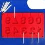 Kép 2/3 - Perfect Home Szilikon csoki nyalóka forma szám 3D 28373
